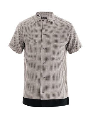 Micro-dot silk shirt