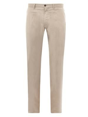 Stretch-cotton tailored trousers
