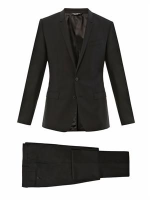 Gold-fit single-breasted wool suit