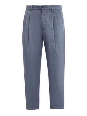 Garment dyed chino trousers