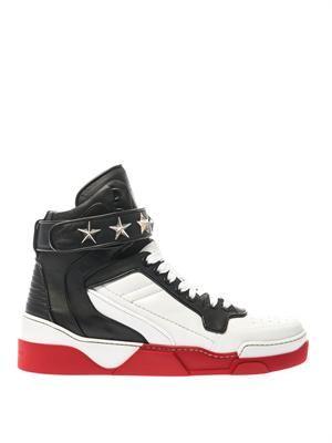Tyson Jordan leather high-top trainers