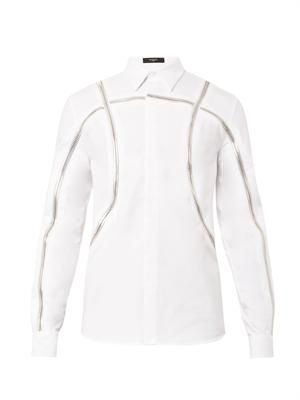 Columbian-fit basketball-zip shirt
