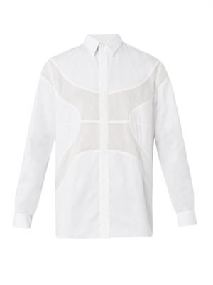 Basketball-panel runway shirt