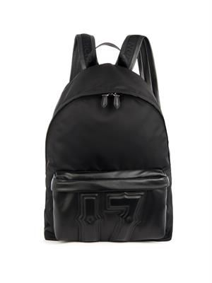 The 17 leather and nylon backpack