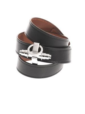 Triple-wrap leather Obsedia cuff