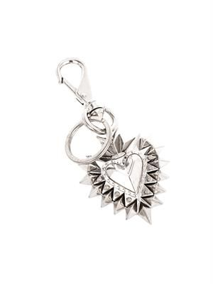 Heart spike key ring