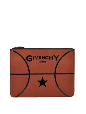 GIVENCHY Basketball leather pouch