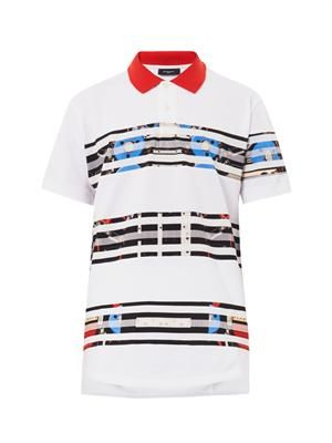 Columbia-fit Transformer-stripe polo shirt