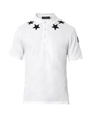 Embroidered-star polo shirt