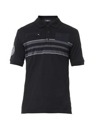 Banded-stripe polo shirt