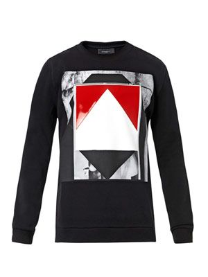 Graphic antique-print sweatshirt