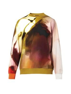 Columbian-fit abstract-print sweatshirt