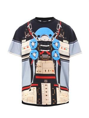 Columbia-fit robot-print T-shirt