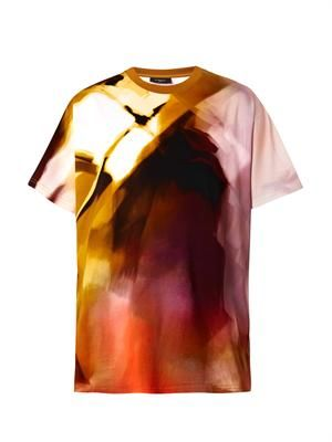 Columbian-fit abstract-print T-shirt