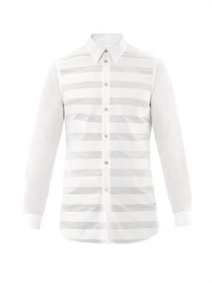 Multi panel stripe shirt