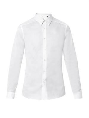 Camouflage-jacquard cotton shirt