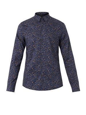 Stippled Colour-print shirt
