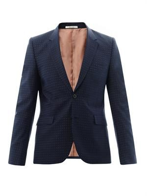 Two-button dot-weave blazer