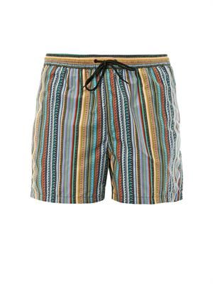 Photograph stripe-print swim shorts