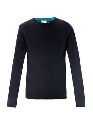 Merino wool crew-neck sweater
