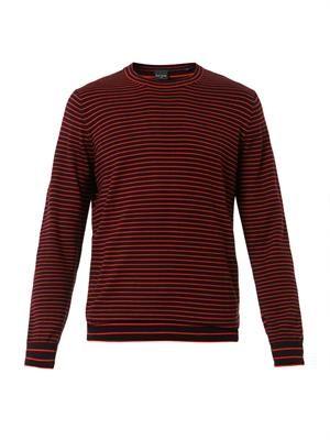 Striped crew-neck sweater