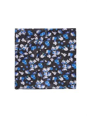 Floral-print cotton handkerchief