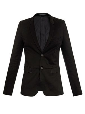 Unstructured cotton-jersey jacket