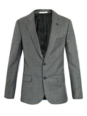 Single-breasted wool blazer