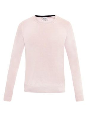 Contrast collar sweater