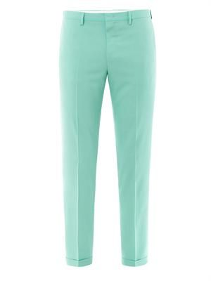 Skinny-leg tailored trousers