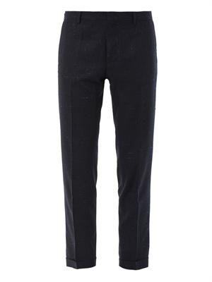 Flat front tailored trousers