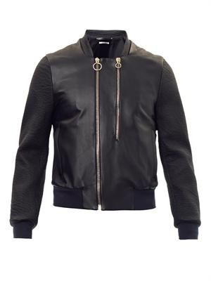 Leather bomber jack