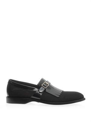 Stenton mesh and leather tassel loafers