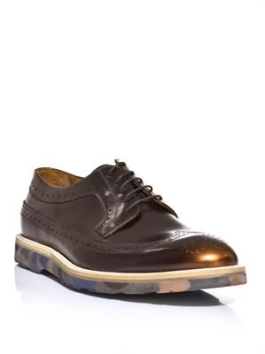 Camo sole city brogues