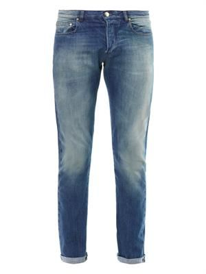 Light-wash skinny jeans