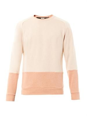 Colour-block crew neck sweater