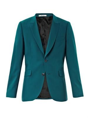 Single-breasted peak lapel jacket