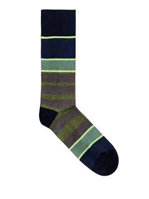 Neon stripe socks