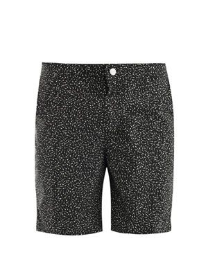 Arrow-print swim shorts