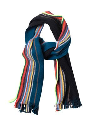Reversible fluorescent edge scarf