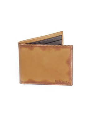 Burnished edge wallet