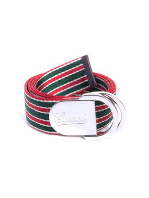 Stripe canvas belt