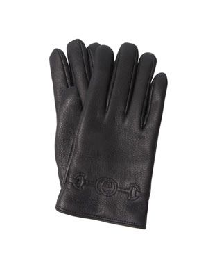 Horse-bit logo gloves