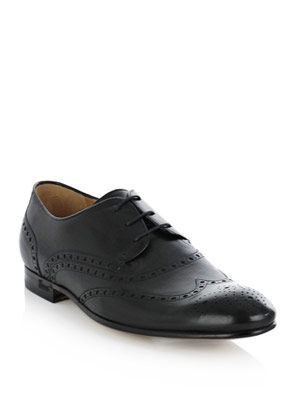 Lace-up brogue detail shoes