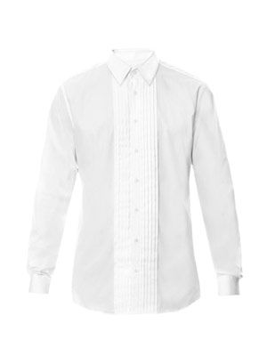 Pleated-front dinner shirt