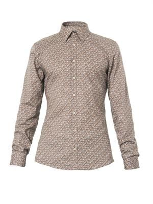 Stirrup-print cotton shirt