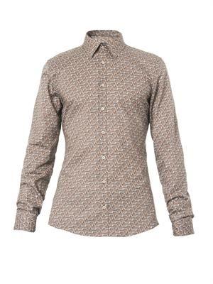 Stirrup-print cotton shirt