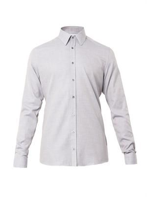 Cotton and cashmere-blend shirt