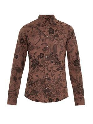 Floral-print slim-fit shirt