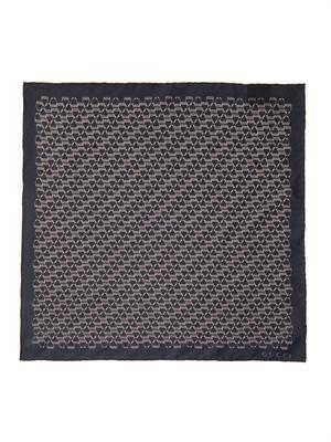 Horsebit-print silk pocket square